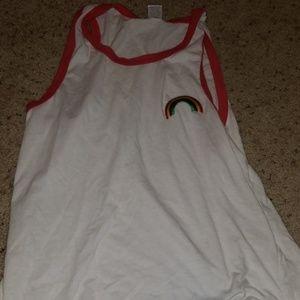 Rainbow muscle shirt